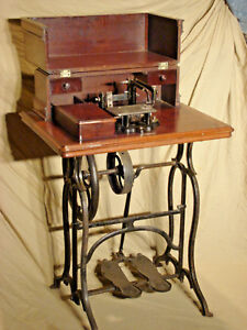 Wheeler And Wilson Treadle Sewing Machine Hand Rubbed Finish