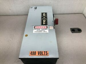 Used Siemens 100 Amp 600 Vac 3 Ph Fusable Enclosed Safety Switch Th3363