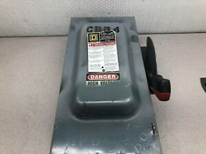 Used Square D 60 Amp 600 Vac 3 Ph Fusable Enclosed Safety Switch H362