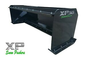 8 Xp30 Black Snow Pusher W Pullback Bar Skid Steer Loader Local Pick Up