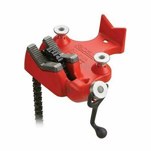 Ridgid 40215 Model Bc810 Top Screw Bench Chain Vise 1 2 To 8 Bc 810