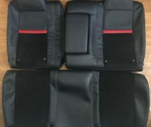 2008 2019 Dodge Challenger Srt8 Rear Seats Oem Leather Alcantara Suede Covers