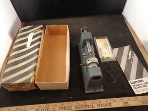 LYMAN RELOADING UNIVERSAL ROTARY CASE TRIMMER W BOX MANUAL WRENCH