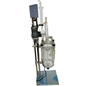 5l Reactor Reaction Vessels Double Layer Chemistry Glassware 220v Lab Equipment