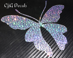 Butterfly Vinyl Decal Sticker Glitter Girl Women Car Truck Laptop Yeti Ozark Cup