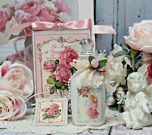 Shabby Chic Paris Decorative Perfume Bottle Wall Sign Remember This Moment