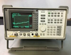 Hp Agilent 8593e Spectrum Analyzer With Tracking Generator Calibrated Loaded