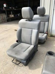 2004 2005 2006 2007 2008 Ford F150 Oem Front Bucket Cloth Seats Light Gray
