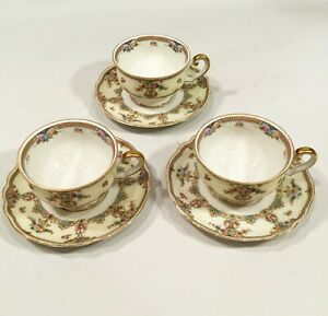 Vintage Bavarian Tea Cups Demitasse Size By Paul Muller Selb Bavaria