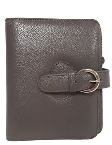 Franklin Covey Leather ava Compact Binder Charcoal