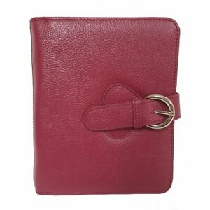 Franklin Covey Ava Leather Binder Compact Plum 6 Inches X 7 5 X 1 25