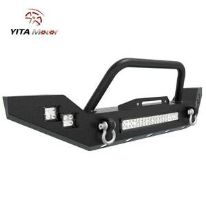 For Jeep Wrangler 07 18 Jk Full Width Front Bumper led Work Light Bar side Light
