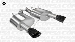 Corsa 2011 14 Ford Mustang Gt Boss 302 3 0 Axle Back Dual Exhaust 4 Black Tips