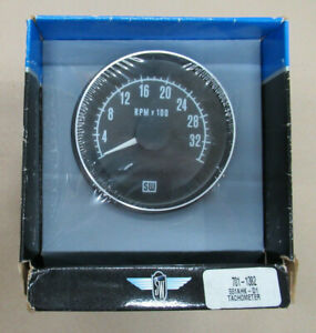 Stewart Warner 551ahk Di Mechanical Tachometer Gauge 3 3 8 Dia 792157800786