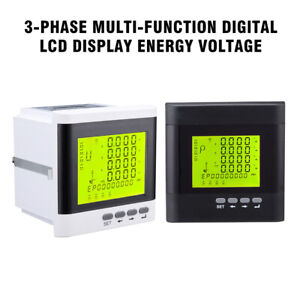 3 phase Multi function Digital Lcd Display Energy Voltage Current Power Meter