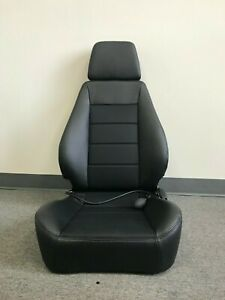 Corbeau Sport Black Leather Reclining Driver Side Seat W Lumbar Support Blem