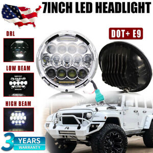 7 Inch Chrome Round Sealed Led Headlights For 97 2018 Jeep Wrangler Jk Lj Tj Cj