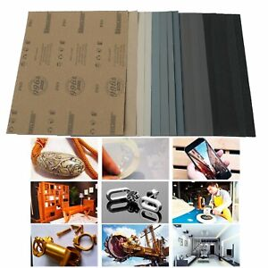 Sanding Sheets Wet dry Silicon Carbide Waterproof Sandpaper Grits 9x11 Usa