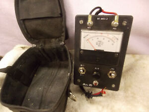 Vintage Working Metro Tel Kicker Volt Ohm Meter Mt 8455 L2 W Canvas Zipper Case