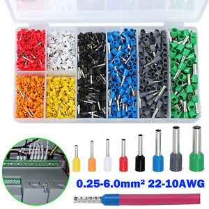 1200pcs Electrical Wire Terminals Kit Insulated Assorted Connectors 22 10awg