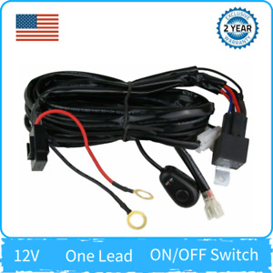 Led Light Bar Fog Light Wiring Harness Kit 12v 40amp Fuse Relay On Off Switch