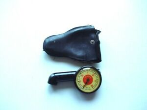 Vintage Black Messko Gauge Red Dot Porsche 356 With Pry Pouch