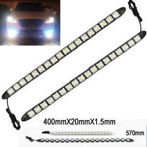 18 Led White Waterproof Universal Drl Flexible Strip Turn Signal Light Ch Do Ben