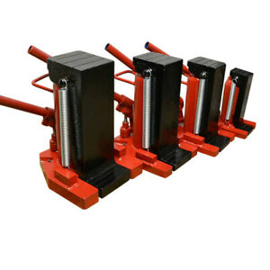 20 10 Ton Toe Jack Hydraulic Ram Track Machine Container Lift