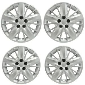New Wheel Covers Hubcaps Fits 2014 2018 Chevrolet Impala 18 Silver Set Of 4