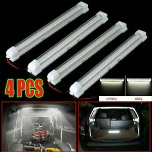 4x 12v 72led Car White Strip Lights Camping Bar Lamp Car Van Caravan Boat Home