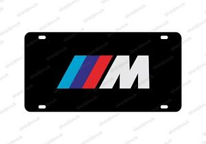 Bmw M Serries License Plate Acrylic Any Car Tag