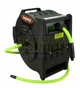 Retractable Flexzilla 1 2 X 50 L8335fz Air Hose Reel Levelwind With Wall Mount