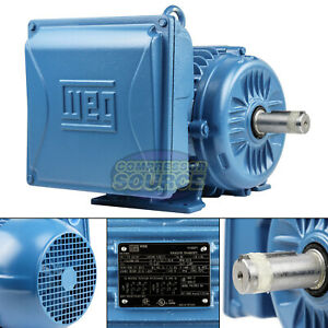 5hp Electric Motor 184t Frame 3600 Rpm Single Phase Weg Farm Duty Tefc Enclosed