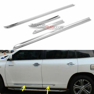 4x Door Side Body Molding Trims Protector Cover For Toyota Highlander 2008 2010
