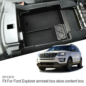 Fit For 2013 2019 Ford Explorer Armrest Storage Box Pallet Center Console Tray