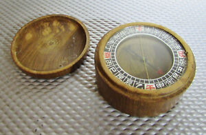 Vintage Chinese Wooden Compass