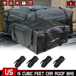 New 15 Cu Ft Waterproof Car Suv Roof Bag Roof Top Luggage Cargo Carrier Bag Box