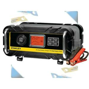 New Stanley Battery Charger With Engine Start 25 Amp Charger 75 Amp Starter