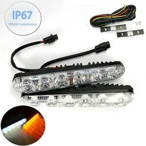 Bumper Driving Lamp Drl 6 Led Switchback Turn Signal Daytime Running Light Toy