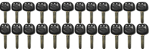20 New Toyota Replacement Uncut Transponder 4d Chip Key With Logo