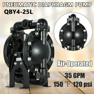 Air operated Double Diaphragm Pump 35 Gpm 1in Inlet Outlet 1 2in Air Inlet