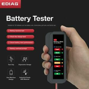 12v Car Battery Analyzer With Clamps Light Indicators Digital Battery Tester