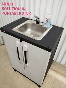 Portable Sink Self Contained Hot Cold Water With Automatic Sensor 110v