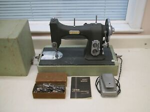 Vintage White Series 77 Rotary Electric Sewing Machine W Foot Pedal