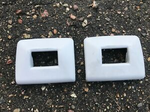 Bmw E34 Rear Seat Belt Buckle Upper Covers Pair Receiver Trims Left Right Oem