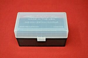 (1) 308243  AMMO BOX  CASE PLASTIC STORAGE  BOX (CLEAR) 243 308 BERRY'S