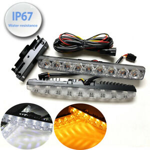 Bumper Driving Lamp Drl 9 Led Switchback Turn Signal Daytime Running Light Toy