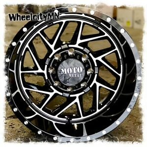 16 X8 Gloss Black Machined Moto Metal Mo985 Breakout Wheels Toyota Tacoma 6x5 5