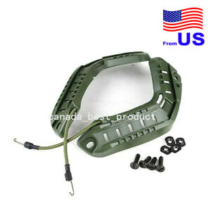 Tactical Airsoft FAST Helmet Side Rail ARC Accessories with Lanyard OD USA $14.39