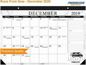 Desk Calendar 2019 2020 Large Monthly Pages 17 X 12 Inches Wall Calendar Daily